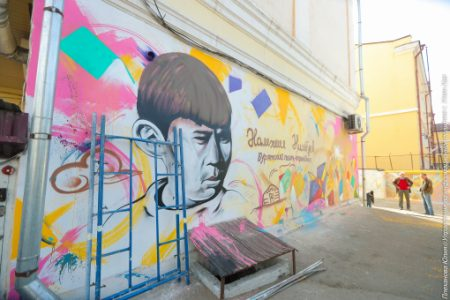 В Улан-Удэ открыли стену, посвящённую поэту Намжилу Нимбуеву