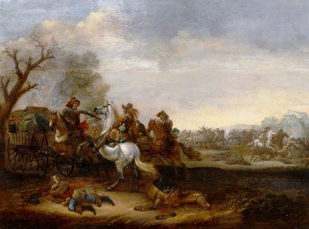 """Нападение кавалерийского отряда на обоз"""